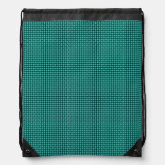 織り方-ターコイズ ナップサック