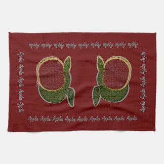 織り目加工のりんご(クランベリー) キッチンタオル