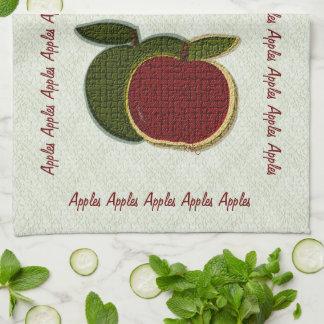 織り目加工のりんご(ミント) キッチンタオル