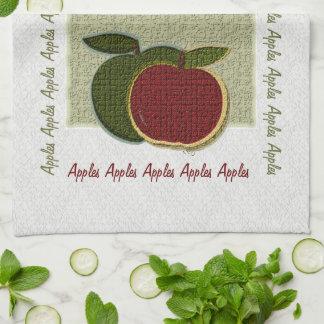 織り目加工のりんご(賢人か白) キッチンタオル