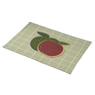 織り目加工のりんご(賢人)のランチョンマット ランチョンマット