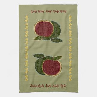 織り目加工のりんご(賢人) キッチンタオル