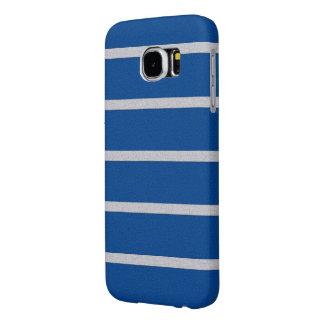 織り目加工のストライプなSamsungはケースに電話をかけます Samsung Galaxy S6 ケース