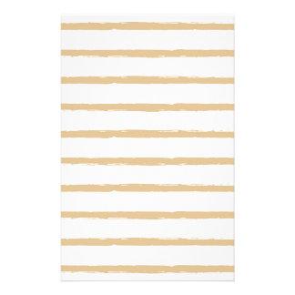 織り目加工のストライプのベージュ白く荒いラインパターン 便箋