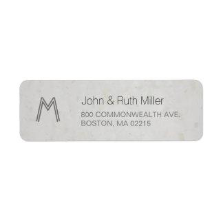 織り目加工のタケの紙1のモノグラムの宛名ラベル ラベル