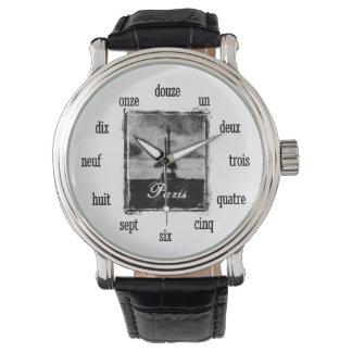 織り目加工のパリ 腕時計