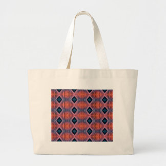 織り目加工のモモの青くモダンな種族パターン ラージトートバッグ