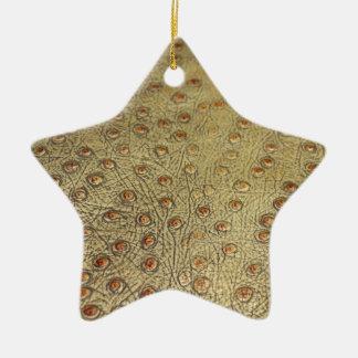 織り目加工の模造のなだちょうの革 セラミックオーナメント