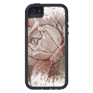 織り目加工の白いバラ iPhone SE/5/5s ケース