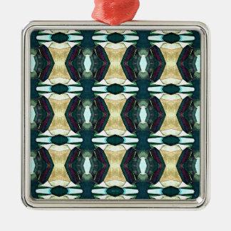 織り目加工の緑の抽象芸術パターン メタルオーナメント