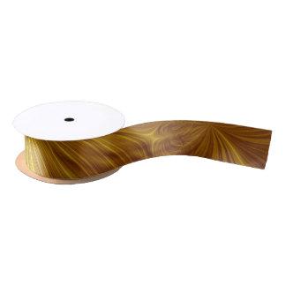 織り目加工の金ゴールドのアクセントのリボン サテンリボン