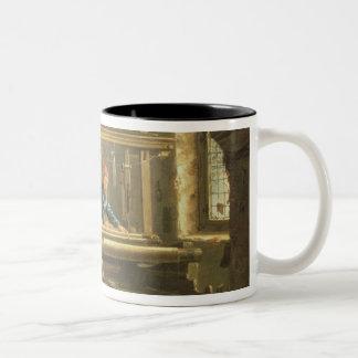 織工1656年の研修会(キャンバスの油) ツートーンマグカップ