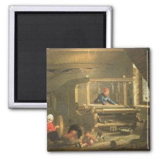 織工1656年の研修会(キャンバスの油) マグネット