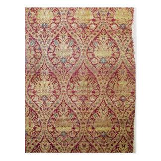 織物のデザイン、第16または17世紀 ポストカード