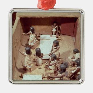 織物の研修会の葬式のモデル シルバーカラー正方形オーナメント