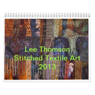 織物の芸術のカレンダー カレンダー