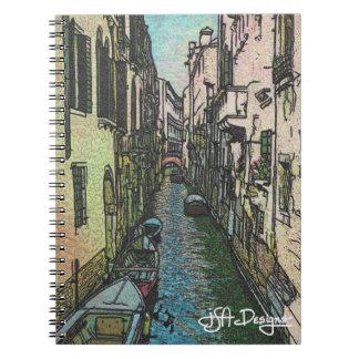 織物の芸術のベニスのノート ノートブック