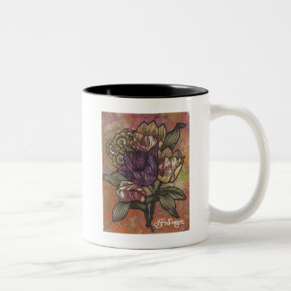 織物の芸術の花のコーヒー・マグ ツートーンマグカップ