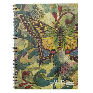 織物の芸術の蝶ノート ノートブック
