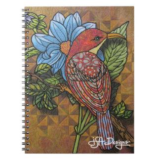 織物の芸術の鳥のノート ノートブック