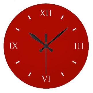 織物の赤い上限のカラフル ラージ壁時計