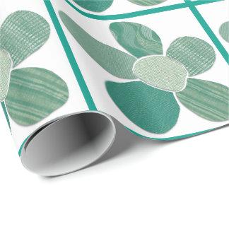 織物材料の花のコラージュDIY色 ラッピングペーパー