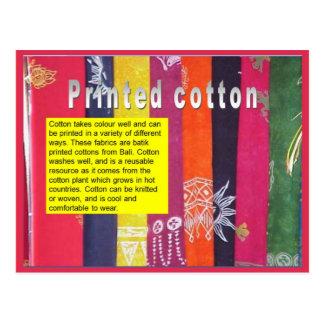 織物、ファッションは、綿を印刷しました ポストカード