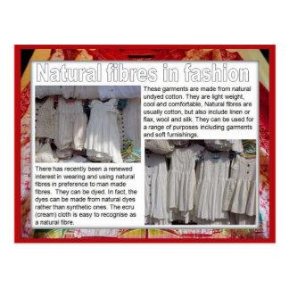 織物、ファッション、ファッションの自然な繊維 ポストカード