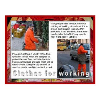 織物、ファッション、働くことのための衣服 ポストカード