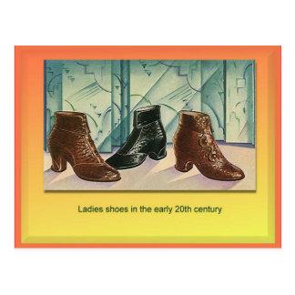 織物、ファッション、女性靴、20世紀初頭 ポストカード
