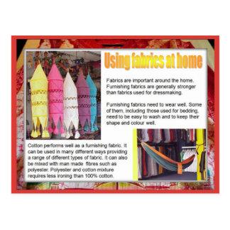 織物、ファッション、家の生地 ポストカード