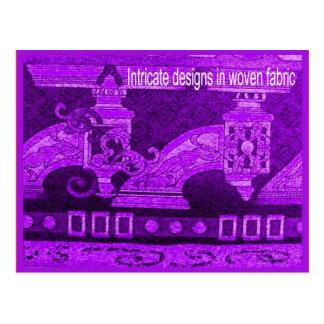 織物、ファッション、複雑な編まれたデザイン ポストカード