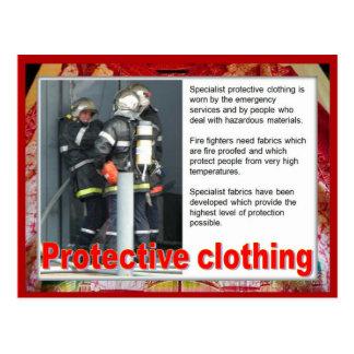 織物、ファッション、防護衣 ポストカード