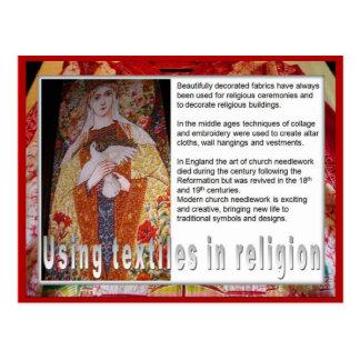 織物、宗教の織物を使用してファッション、 ポストカード