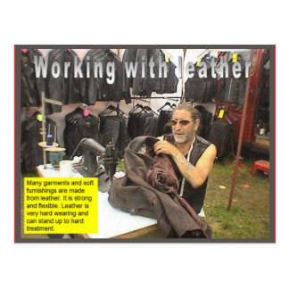 織物、革を使用するファッション ポストカード