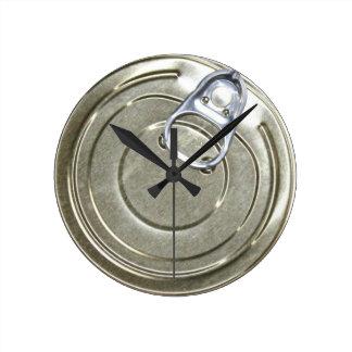 缶のふたのノベルティ ラウンド壁時計