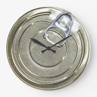 缶のふたのノベルティ ラージ壁時計