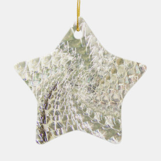 罅割れたガラス渦巻のデザイン-ダイヤモンド セラミックオーナメント
