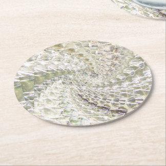 罅割れたガラス渦巻のデザイン-ダイヤモンド ラウンドペーパーコースター