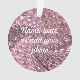 罅割れたガラス渦巻のデザイン-ピンクのAlexandrite オーナメント