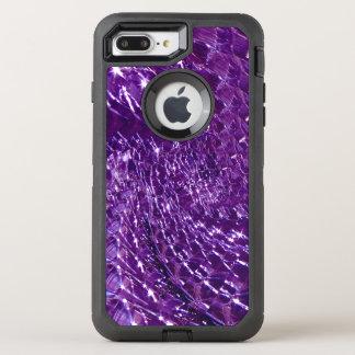 罅割れたガラス渦巻のデザイン-紫色のアメジスト オッターボックスディフェンダーiPhone 8 PLUS/7 PLUSケース