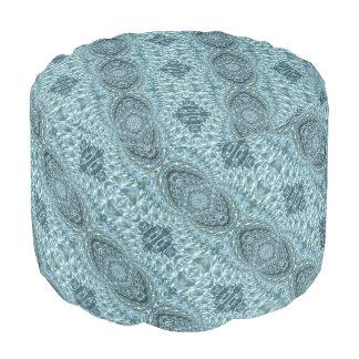 罅割れたガラス渦巻のデザイン-青いアクアマリン プーフ