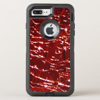 罅割れたガラスBirthstone 1月の赤のガーネット オッターボックスディフェンダーiPhone 8 Plus/7 Plusケース