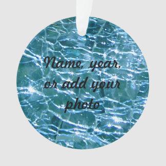 罅割れたガラスBirthstone 12月の青のトパーズ オーナメント