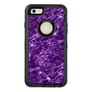 罅割れたガラスBirthstone 2月の紫色のアメジスト オッターボックスディフェンダーiPhoneケース