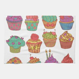 置かれるおいしいcumpcakes キッチンタオル