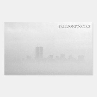置かれるステッカー-自由の霧の写真 長方形シール