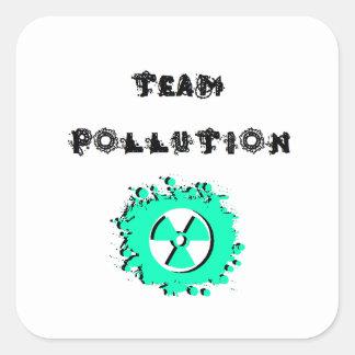 置かれるチーム汚染のステッカー スクエアシール