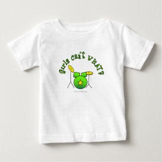 置かれるドラム-緑 ベビーTシャツ