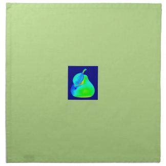 置かれる組のカッコいいの緑の布のナプキン ナプキンクロス